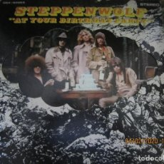 Discos de vinilo: STEPPENWOLF - AT YOUR BIRTHDAY PARTY LP - ORIGINAL U.S.A. - DUNHILL 1969 CARPETA TROQUELADA -. Lote 195460955