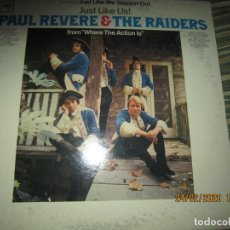 Discos de vinilo: PAUL REVERE & THE RAIDERS - JUST LIKE US LP - ORIGINAL U.S.A. - COLUMBIA 1966 MONO 360 SOUND LABEL. Lote 195462697