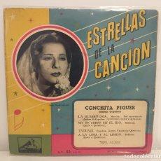 Discos de vinilo: CONCHITA PIQUER//ESTRELLAS DE LA CANCIÓN//LA RUISEÑORA,TATUAJE,+2/EP 13.018,ESPAÑA. Lote 195463138