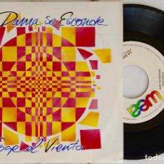 Discos de vinilo: LA DAMA SE ESCONDE. COGE EL VIENTO. SINGLE PROMOCIONAL MISMO TEMA AMBAS CARAS. Lote 195463907