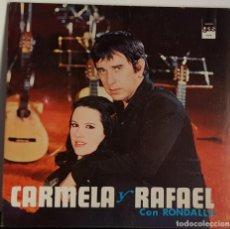 Discos de vinilo: CARMELA Y RAFAEL CON RONDALLAS CON FIRMAS EN EL INTERIOR 1974. Lote 195469476