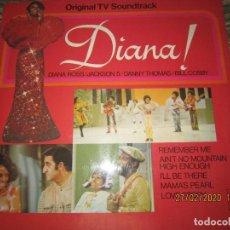 Discos de vinilo: DIANA ROSS - ORIGINAL TV SOUNDTRACK LP - ORIGINAL INGLES - TAMLA MOTOWN 1971 GATEFODL COVER -. Lote 195471872