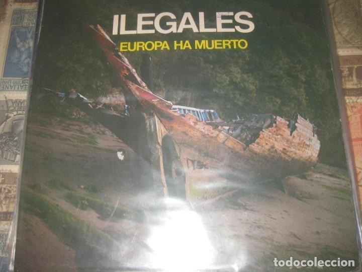 ILEGALES EUROPA HA MUERTO (FONOGRAFICA-1983) OG ESPAÑA PRIMER DIFICIL ULTRARARO 12 (Música - Discos de Vinilo - Maxi Singles - Grupos Españoles de los 70 y 80)