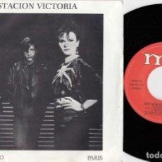 Discos de vinilo: ESTACION VICTORIA - OCTUBRE ROJO / PARIS - SINGLE DE VINILO . Lote 195474701