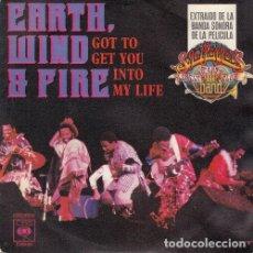 Discos de vinilo: EARTH WIND AND FIRE -- GOT YOU GET YOU INTO MY LIFE - SINGLE DE VINILO EDICION ESPAÑOLA. Lote 195476431