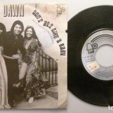 Discos de vinilo: DAWN / RUNAWAY/HAPPY TOGETHER / SINGLE 7 INCH. Lote 195477482