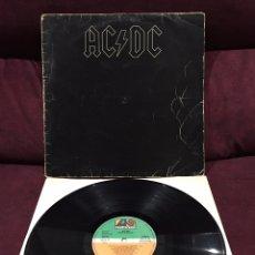 Discos de vinilo: AC/DC - BLACK IN BLACK LP, REEDICIÓN, 1982, ESPAÑA. Lote 195477853