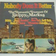 Discos de vinilo: THE ROMANTIC TRUMPET OF STOPPY MARKUS - NOBODY DOES IT BETTER - DISCOPHON 1978. Lote 195478078