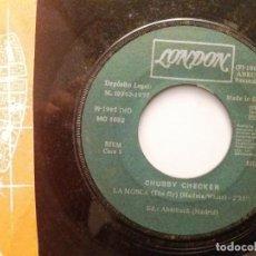 Discos de vinilo: CHUBBY CHECKER / LA MOSCA / TWIST AND SHOUT / SINGLE 7 INCH. Lote 195478291