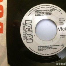Discos de vinilo: ADRIANO PAPPALARDO / RECOMENCEMOS / SINGLE 7 INCH. Lote 195478861