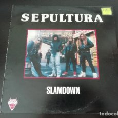 Discos de vinilo: SEPULTURA: SLAMDOWN - LP (1991) - RARÍSIMO!. Lote 195479550