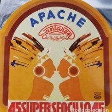Discos de vinilo: SANTAREN AND THE LOVIN' GIRLS - APACHE - MAXI SINGLE DE 12 PULGADAS EDICION ESPAÑOLA - MUSICA DISCO. Lote 195486452
