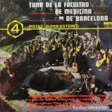 Discos de vinilo: TUNA DE LA FACULTAD DE MEDICINA DE BARCELONA - 4 PISTAS SUPER ESTEREO - LP VINILO - 1970 PALOBAL. Lote 195487015