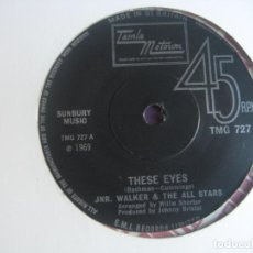 Discos de vinilo: JUNIOR WALKER & THE ALL STARS MOTOWN 1969 - THESE EYES +1 SOUL POP FUNK 60'S - POCO USO. Lote 195487643