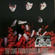 Discos de vinilo: THE CURE - PORNOGRAPHY IN PARIS -2 LP / GREEN VINYL-. Lote 195488655