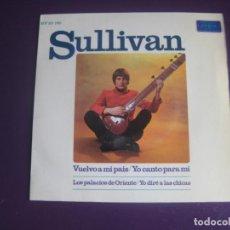 Discos de vinilo: SULLIVAN EP HISPAVOX 1967 JE REVIENS AU PAYS (VUELVO A MI PAIS) +3 FOLK POP PSICODELIA FRANCIA 60'S. Lote 195489168