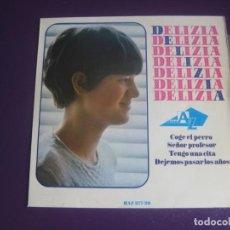 Discos de vinilo: DELIZIA EP HISPAVOX 1966 - COGE EL PERRO +3 CHANSON POP FRANCIA 60'S - ADAMO - SIN USO. Lote 195489372