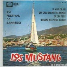 Discos de vinilo: MUSTANG LA VIDA ES ASI. Lote 195491128