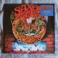 Discos de vinilo: SAXON - FOREVER FREE 12'' LP VINILO ROJO NUEVO Y PRECINTADO - HEAVY METAL. Lote 195493780