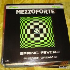 Discos de vinilo: MEZZOFORTE. SPRING FEVER. POLYDOR, 1984. EDC. UK. MAXI.SINGLE . IMPECABLE (#). Lote 195496207
