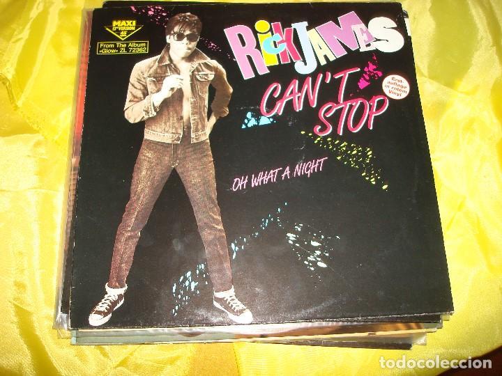 RICK JAMES. CAN´T STOP. GORDY, 1985. VINILO ROJO. EDC. GERMANY. MAXI.SINGLE . IMPECABLE (#) (Música - Discos de Vinilo - Maxi Singles - Pop - Rock Internacional de los 70)