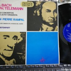 Discos de vinilo: JEAN-PIERRE RAMPAL / KARL RISTENPART LP BACH TELEMANN ESPAÑA 1966. Lote 195497756