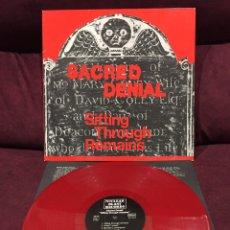 Discos de vinilo: SACRED DENIAL - SIFTING THROUGH REMAINS LP, 1988, ALEMANIA. Lote 195497773