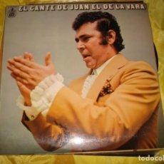 Discos de vinilo: EL CANTE DE JUAN EL DE LA VARA. GUITARRA MELCHAR DE MARCHENA. HISPAVOX, 1978. IMPECABLE. Lote 195499397