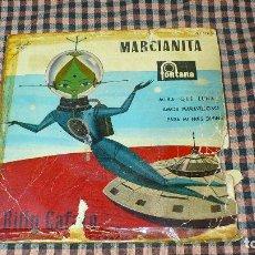 Discos de vinilo: BILLY CAFARO-MARCIANITA, MIRA QUE LUNA, AMOR MARAVILLOSO, PARA MI ERES DIVINA,FONTANA 1960, AMARILLO. Lote 195501075