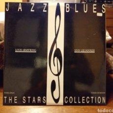 Discos de vinilo: JAZZ BLUES LOUIS ARMSTRONG JOHN LEE HOOKER DOBLE LP ESPAÑA 1985. Lote 195501273