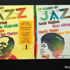 Discos de vinilo: LOS GRANDES DEL JAZZ. VOLS. 1, 2, 13, 14, 21, 33, 45, 56, 91 Y 96. GRAN ENCICLOPEDIA DEL JAZZ SARPE.. Lote 195501740