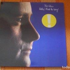 Discos de vinilo: LP PHIL COLLINS. HELLO, I MUST BE GOING! WEA 99263, 1982.. Lote 195503680