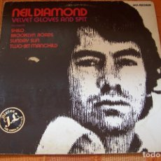 Discos de vinilo: LP NEIL DIAMOND. VELVET GLOVES AND SPIT. 1982.. Lote 195503948