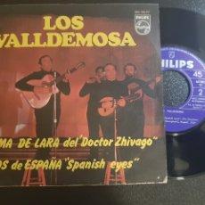 Discos de vinilo: DIFÍCIL. LOS VALLDEMOSA. TEMA DE LARA DEL DOCTOR ZHIVAGO. OJOS DE ESPAÑA. PHILIPS. 1968.. Lote 195504633