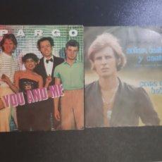 Discos de vinilo: LOTE DE 2 SINGLES. SPARGO. ALFIE KHAN.. Lote 195505112