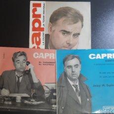 Discos de vinilo: 3 SINGLES DE CAPRI.. Lote 195505275