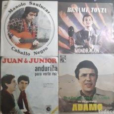 Discos de vinilo: LOTE DE 4 SINGLES. NACIONALES.. Lote 195505460