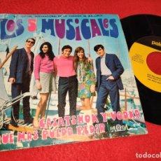 Discos de vinilo: LOS 5 MUSICALES QUE MAS PUEDO PEDIR/CASATSHOK Y VODKA 7'' SINGLE 1969 PALOBAL. Lote 195505475