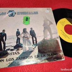 Discos de vinilo: LOS 5 MUSICALES PALABRITAS/CON LOS ZAPATOS EN LA MANO 7'' SINGLE 1971 PALOBAL. Lote 195506027