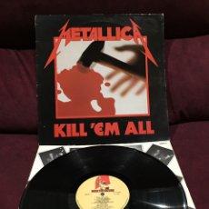 Discos de vinilo: METALLICA - KILL 'EM ALL LP, 1983, REINO UNIDO, PRIMERA EDICIÓN, OPORTUNIDAD!!!. Lote 195507031