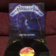 Discos de vinilo: METALLICA - RIDE THE LIGHTNING LP, REEDICIÓN, 1986, REINO UNIDO, DIFÍCIL!! OPORTUNIDAD ÚNICA!!!. Lote 195508747