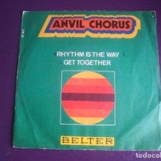 Discos de vinilo: ANVIL CHORUS SG BELTER 1970 RHYTHM IS THE WAY / GET TOGETHER - FUNK SOUL 70'S - POCO USO VINILO. Lote 195509543
