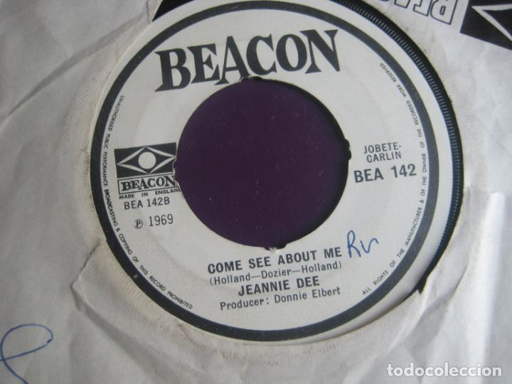 JEANNIE DEE SG BEACON 1969 - DON'T COME HOME MY LITTLE DARLING / COME SEE ABOUT ME - SOUL FUNK (Música - Discos - Singles Vinilo - Funk, Soul y Black Music)