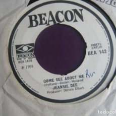 Discos de vinilo: JEANNIE DEE SG BEACON 1969 - DON'T COME HOME MY LITTLE DARLING / COME SEE ABOUT ME - SOUL FUNK. Lote 195510535