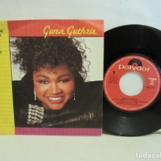 Discos de vinilo: GWEN GUTHRIE - AIN'T NOTHIN' GOIN' ON BUT THE RENT - SINGLE - 1986 - SPAIN - VG+/VG. Lote 195515342