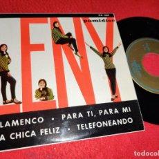 Disques de vinyle: LENY FLAMENCO/PARA TI PARA MI/LA CHICA FELIZ/TELEFONEANDO EP 1965 PAMIDISC LOS BRINCOS. Lote 195515512