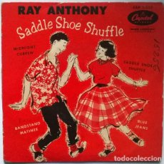 Discos de vinilo: RAY ANTHONY. SADDLE SHOE SHUFFLE/ BLUE JEANS/ MIDNIGHT CURFEW/ BRANDSTAND MATINEE. CAPITOS, USA 1954. Lote 195517166