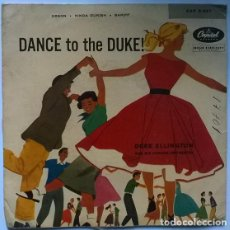 Discos de vinilo: DUKE ELLINGTON. DANCE TO THE DUKE: BAKIFF/ ORSON/ KINDA DUKISH. CAPITOL, USA 1964 EP. Lote 195517625