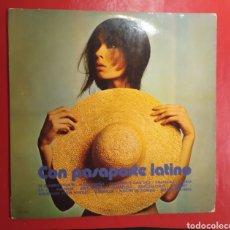 Discos de vinilo: DISCO DE VINILO CON PASAPORTE LATINO. AÑO 1970. SELLO TREBOL.. Lote 195517892