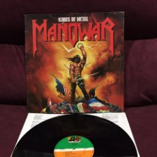 Discos de vinilo: MANOWAR - KINGS OF METAL LP, 1988, ESPAÑA, OPORTUNIDAD!!. Lote 195518331